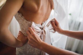 Braut Schleife Rücken