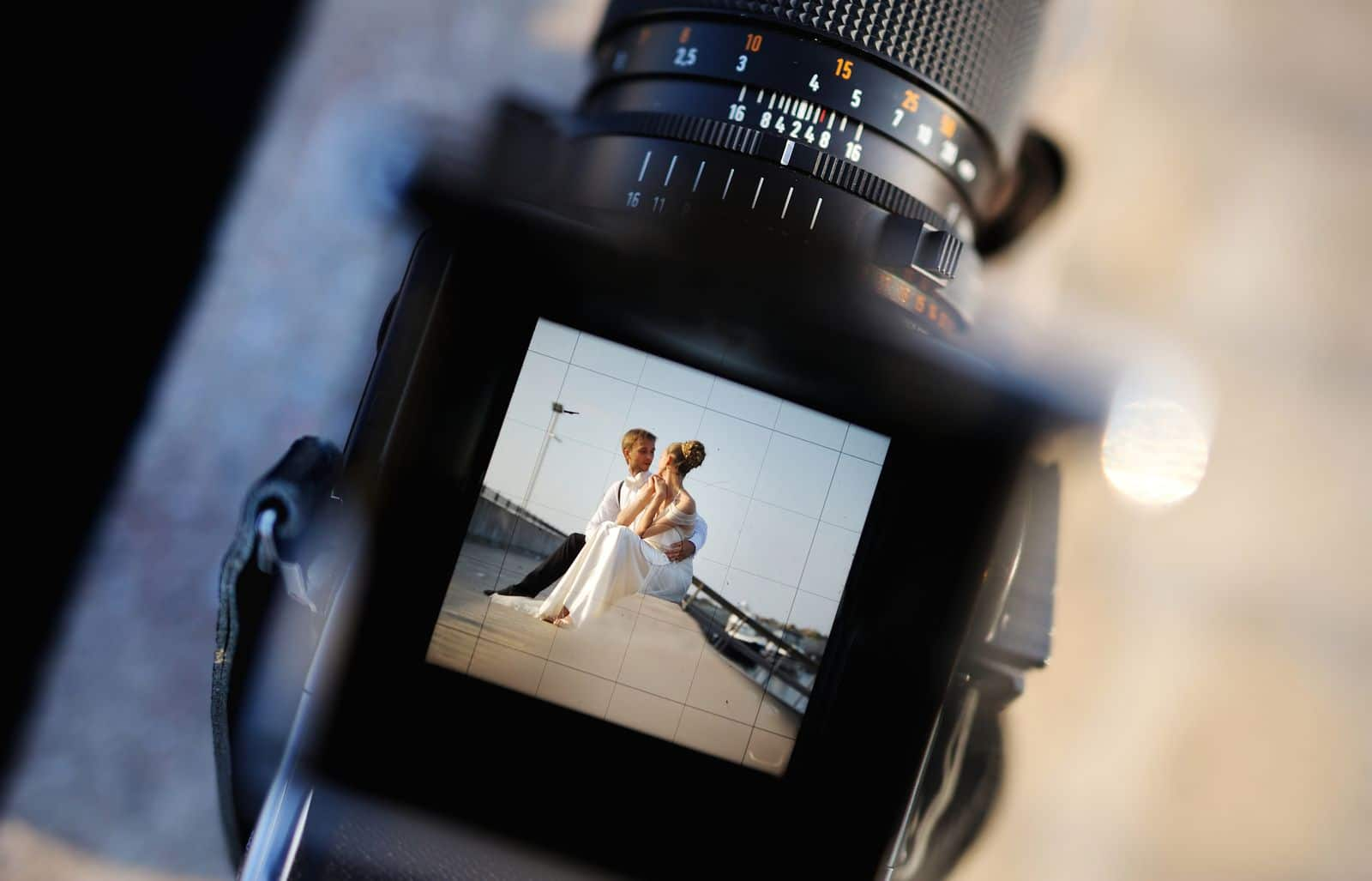 Kamera Fotograf Brautpaar