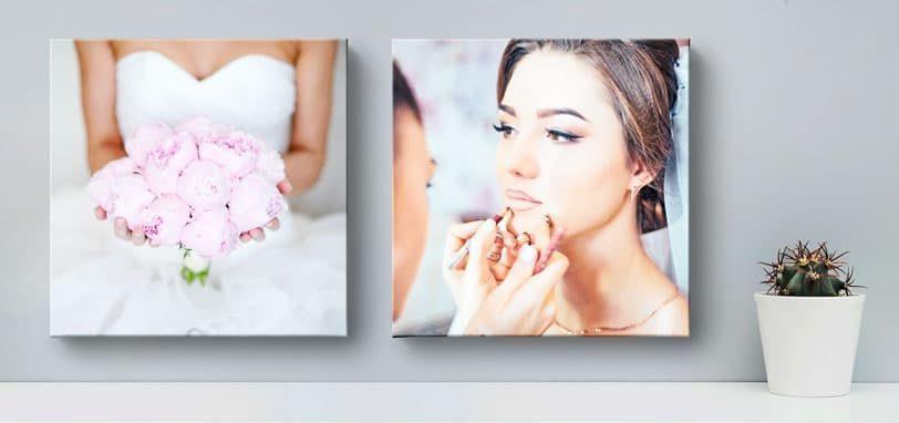 Hochzeitsfotos auf Fotoleinwand