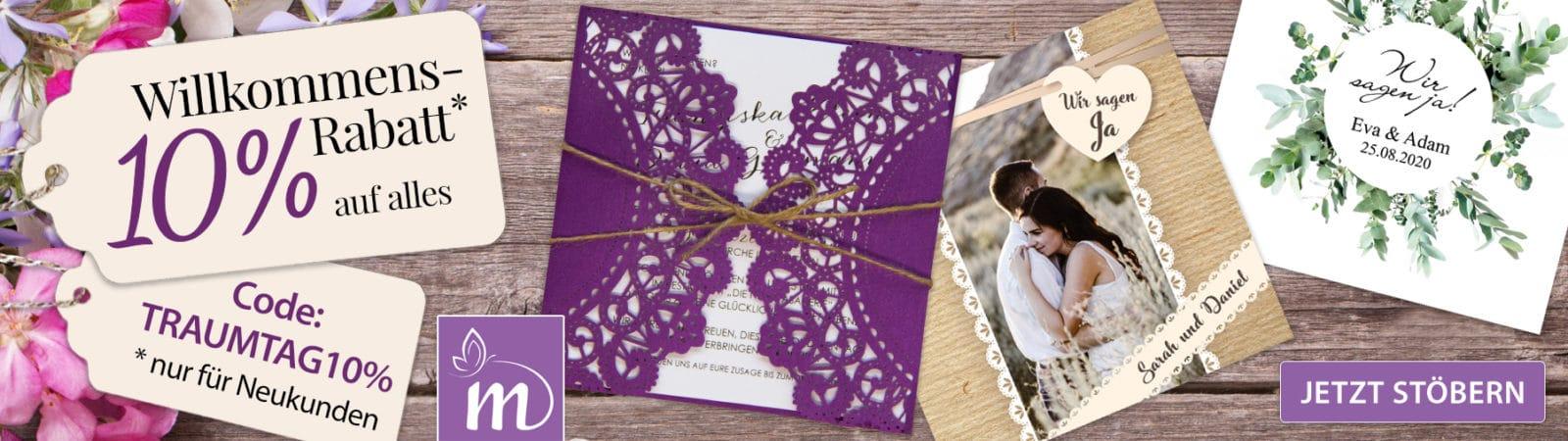 Einladungskarten für Hochzeiten und Familienfeste