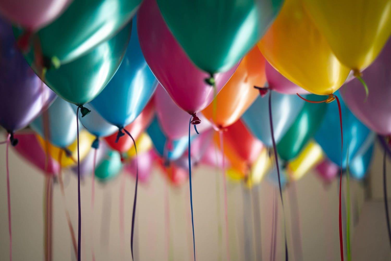 metallic Luftballons