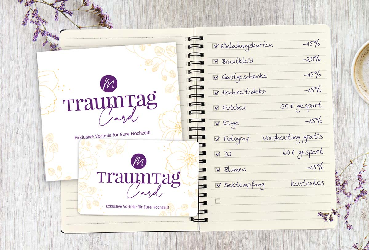 TraumtagCard - Exklusive Vorteile für eure Hochzeit